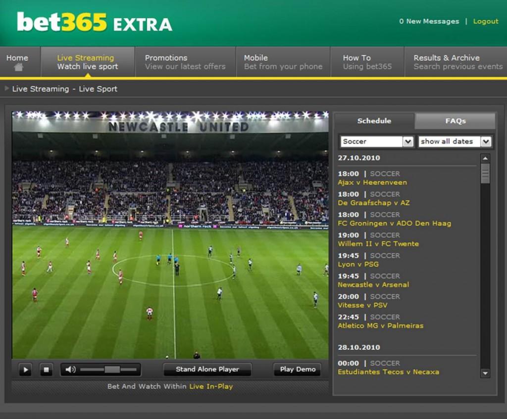 Vorschau des kostenlosen bet365 Live-Stream